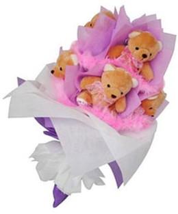 9 adet ayiciktan buket  Yozgat hediye sevgilime hediye çiçek