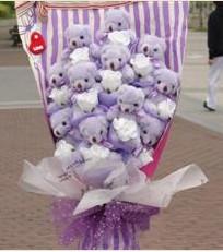 11 adet pelus ayicik buketi  Yozgat çiçek gönderme sitemiz güvenlidir