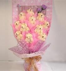 11 adet pelus ayicik buketi  Yozgat çiçek yolla