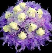 11 adet pelus ayicik buketi  Yozgat çiçek , çiçekçi , çiçekçilik