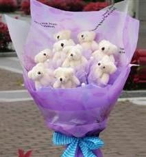 11 adet pelus ayicik buketi  Yozgat ucuz çiçek gönder
