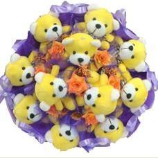11 adet pelus ayicik buketi  Yozgat çiçek mağazası , çiçekçi adresleri