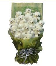 11 adet pelus ayicik buketi  Yozgat online çiçek gönderme sipariş