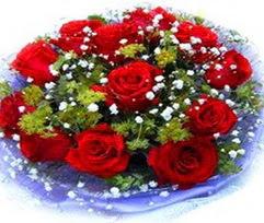 9 adet kirmizi güllerden buket  Yozgat çiçekçi telefonları