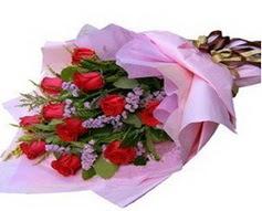 11 adet kirmizi güllerden görsel buket  Yozgat çiçek gönderme sitemiz güvenlidir