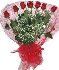 7 adet kipkirmizi gülden görsel buket  Yozgat çiçek mağazası , çiçekçi adresleri