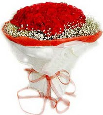 Yozgat çiçekçiler  41 adet kirmizi gül buketi