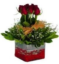 Yozgat çiçek gönderme  7 adet mika yada cam vazoda gül tanzimi