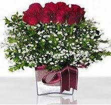 Yozgat internetten çiçek satışı  mika yada cam vazo içerisinde 7 adet gül