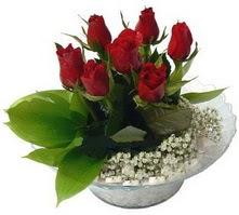 Yozgat internetten çiçek satışı  cam yada mika içerisinde 5 adet kirmizi gül