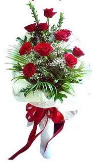 Yozgat ucuz çiçek gönder  10 adet kirmizi gül buketi demeti