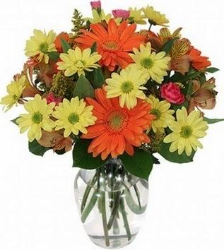 Yozgat hediye sevgilime hediye çiçek  vazo içerisinde karışık mevsim çiçekleri