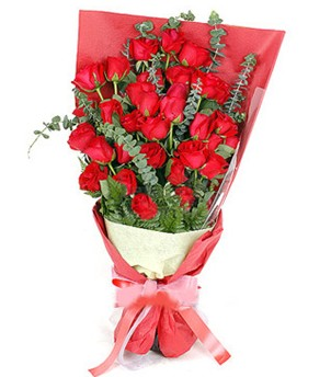 Yozgat çiçek gönderme  37 adet kırmızı güllerden buket