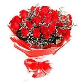 Yozgat çiçek mağazası , çiçekçi adresleri  12 adet kırmızı güllerden görsel buket