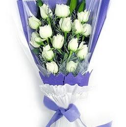 Yozgat çiçekçi mağazası  11 adet beyaz gül buket modeli