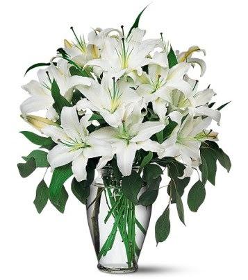 Yozgat internetten çiçek satışı  4 dal kazablanka ile görsel vazo tanzimi