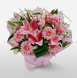 1 dal kazablanka ve kır çiçek görsel buketi  Yozgat internetten çiçek satışı