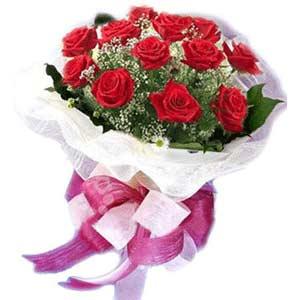 Yozgat çiçek satışı  11 adet kırmızı güllerden buket modeli