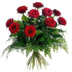 Yozgat çiçek gönderme  10 adet kırmızı gülden buket