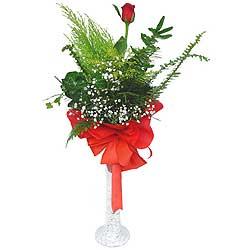 Yozgat anneler günü çiçek yolla  Cam vazoda masum tek gül