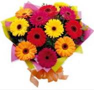 15 adet gerbera çiçeğinden buket