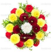 Yozgat çiçekçi mağazası  13 adet mevsim çiçeğinden görsel buket