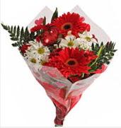 Mevsim çiçeklerinden görsel buket  Yozgat çiçekçiler