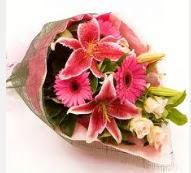 1 dal kazablanka ve mevsim çiçekleri  Yozgat internetten çiçek siparişi