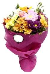 1 demet karışık görsel buket  Yozgat anneler günü çiçek yolla