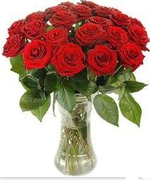 Yozgat çiçek mağazası , çiçekçi adresleri  Vazoda 15 adet kırmızı gül tanzimi