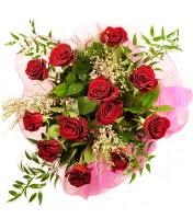 12 adet kırmızı gül buketi  Yozgat 14 şubat sevgililer günü çiçek