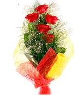 5 li kırmızı gül buketi  Yozgat internetten çiçek satışı