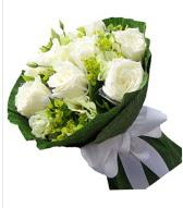 9 adet beyaz gül buketi  Yozgat çiçek siparişi sitesi