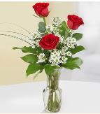 Vazo içerisinde 3 adet kırmızı gül  Yozgat çiçek satışı