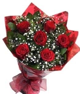 6 adet kırmızı gülden buket  Yozgat yurtiçi ve yurtdışı çiçek siparişi