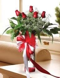 Camda 5 kırmızı gül tanzimi  Yozgat çiçekçi telefonları