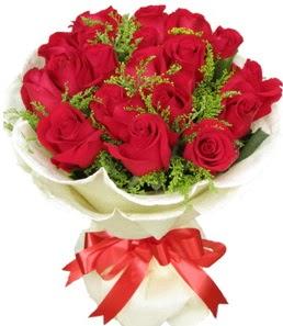 19 adet kırmızı gülden buket tanzimi  Yozgat çiçek servisi , çiçekçi adresleri