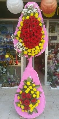 Çift katlı düğün nikah açılış çiçek modeli  Yozgat çiçekçiler