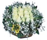 Yozgat çiçekçiler  Beyaz harika bir gül sepeti