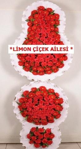 3 katlı kırmızı düğün açılış çiçeği  Yozgat çiçek gönderme