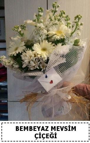 Bembeyaz görsel mevsim çiçek buketi  Yozgat çiçek yolla