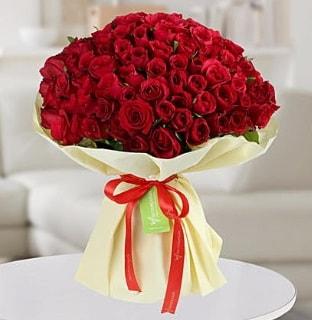 101 adet kırmızı gül buketi koca demet  Yozgat internetten çiçek siparişi