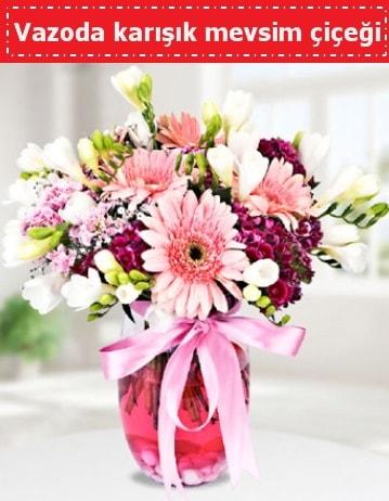 Vazoda karışık mevsim çiçeği  Yozgat çiçek , çiçekçi , çiçekçilik