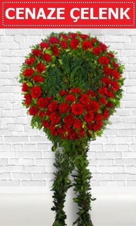 Kırmızı Çelenk Cenaze çiçeği  Yozgat İnternetten çiçek siparişi