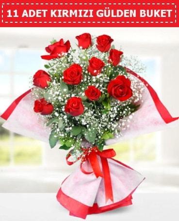 11 Adet Kırmızı Gül Buketi  Yozgat internetten çiçek siparişi