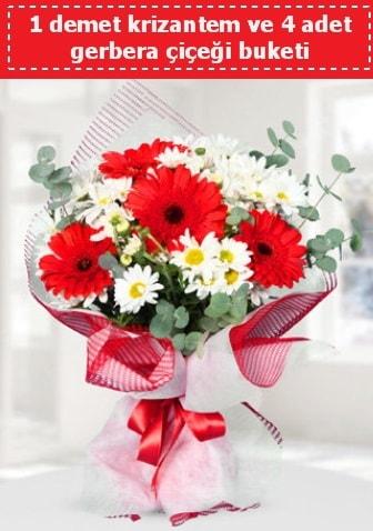 Krizantem ve Gerbera Buketi  Yozgat çiçek siparişi sitesi
