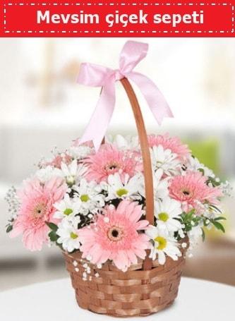 Mevsim kır çiçek sepeti  Yozgat çiçek , çiçekçi , çiçekçilik