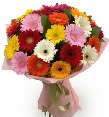 Karışık büyük boy gerbera çiçek buketi  Yozgat çiçek satışı
