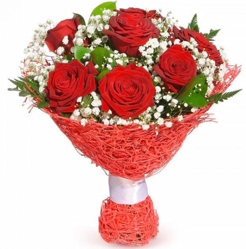 7 adet kırmızı gül buketi  Yozgat çiçekçiler